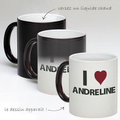 Tasse Mug Magique Personnalise I Love Andreline