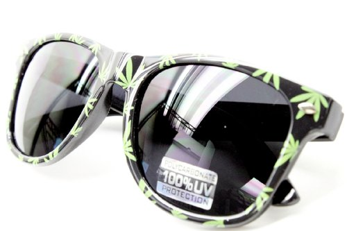 W263-RP Style Vault 80s Sunglasses (Weed Black/Green)