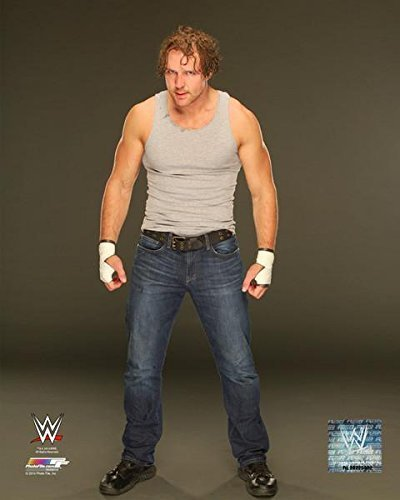 Dean Ambrose - WWE 8x10 Photo 2014 posed (grey background) (Dean Ambrose 2014 compare prices)