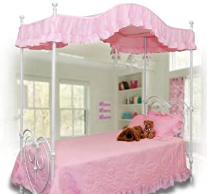 Pink Canopy Bed : ... .com - Pink Canopy Bed Cover Twin Size (Pink) - Bedding Accessories