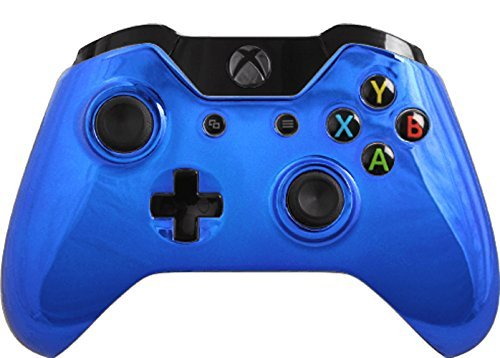 Custom Xbox One Controller Special Edition Blue Chrome Controller
