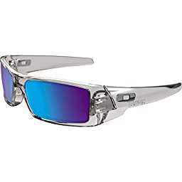 Oakley Mens Gascan Sunglasses, Polished Clear/Sapphire Iridium, One Size