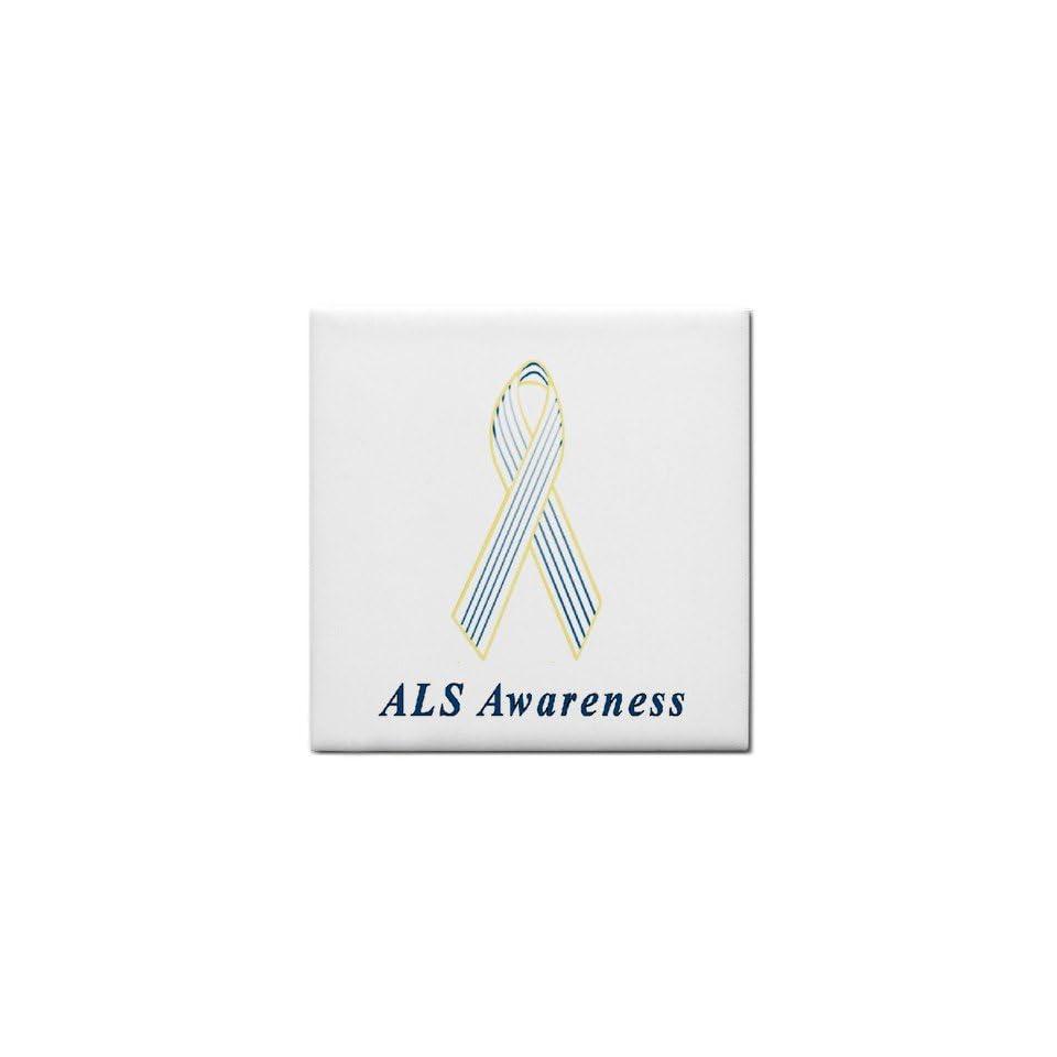 ALS Awareness Ribbon Tile Trivet on PopScreen