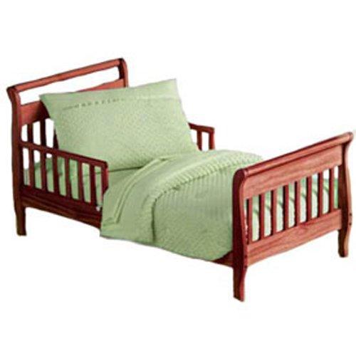 Baby Doll Bedding Heavenly Soft Toddler Bedding Set, Sage front-1008530