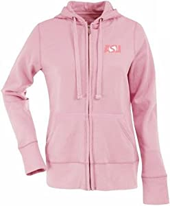 Arizona State Ladies Zip Front Hoody Sweatshirt (Pink) by Antigua