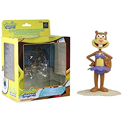 Spongebob Squarepants Mini Figure World Wave 04 - Bikini Sandy Spongebob Squarepants Figures [병행수입품]-