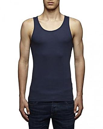 JACK & JONES - Top Homme - RIB TANK TOP - Bleu (Dress Blues) - FR : Small (Taille fabricant : Small)