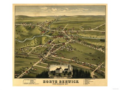 Panoramic Poster of North Berwick, Maine