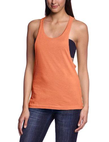 Urban Classics - Ladies Loose Burnout Tanktop, T-shirt sportiva Donna, Arancione (Neonorange), Medium (Taglia Produttore: Medium)