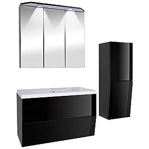 Mobile bagno arredo bagno set arredo bagno da 3 pezzi nero - Arredo bagno amazon ...