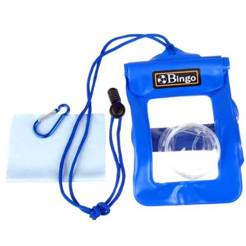 Neewer Waterproof Underwater Blue PVC Bag With Lens Cover For Digital Cameras