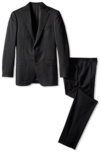 Ermenegildo-Zegna-Mens-Solid-Notch-Lapel-Suit