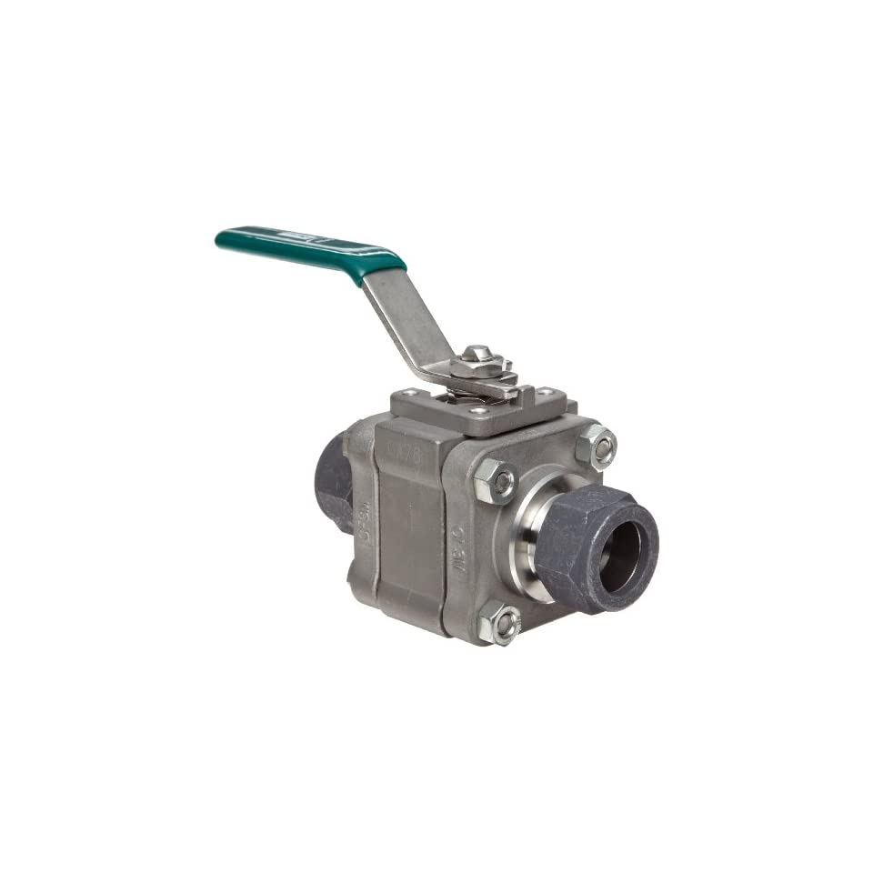 Parker SWB Series Stainless Steel Ball Valve, Inline, 3/4 CPI Compression Fitting