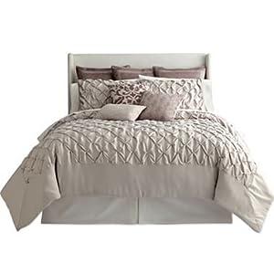 Royal velvet gramercy park full size comforter for Grey velvet comforter