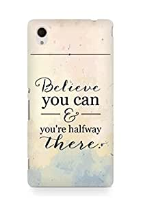 AMEZ believe you can and you are there halfway Back Cover For Sony Xperia M4