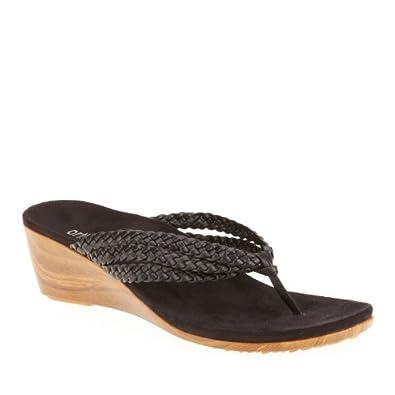 Orthaheel Ramba Thong Sandals, Black, 5 M/B