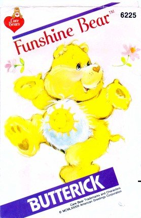 Butterick 6225 Vintage Sewing Pattern Funshine Care Bear