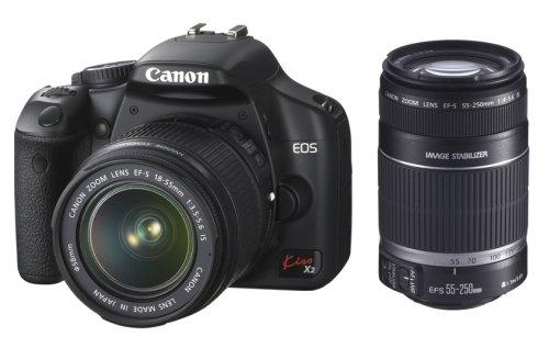 Canon デジタル一眼レフカメラ EOS Kiss X2 ダブルズームキット KISSX2-WKIT