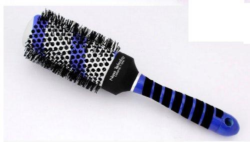 Boar Bristle Hair Brush Aluminum Barrel 53 Rows Of Bristle, Inner Barrel Diameter: 53Mm, Outer Barrel Diameter: 75Mm For 2 Pcs