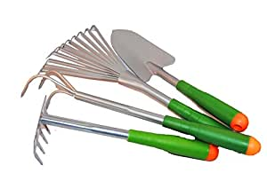 4 piece garden hand tool set with kneeling for Gardening tools on amazon