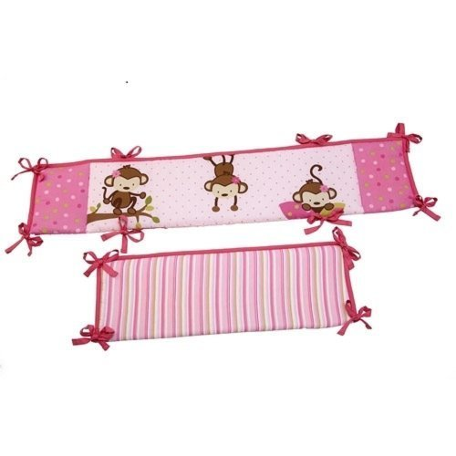 Little Bedding By Nojo 3 Little Monkeys - Portable Crib Bumper - 1