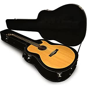 acoustic guitar case hard body travel carrying cases fit dreadnought style guitars. Black Bedroom Furniture Sets. Home Design Ideas