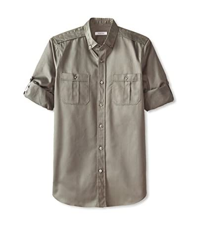 Valentino Garavani Men's Roll-Up Sleeve Shirt