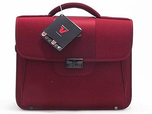 """Roncato uomo, Easy Office 412712, poliestere 600, rosso, borsa porta pc 15.6"""""""