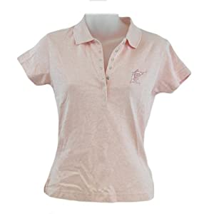 MLB Florida Miami Marlin Licensed Ladies Ladies Polo Collar Shirt Adult Pink by Licensed