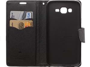 Generic Goospery Mercury Diary Flip Cover for HTC One E9+ (Black)