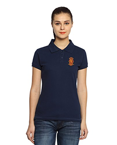 Adro-Womens-Cotton-Polo-T-Shirt-Navy-Blue