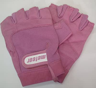 Womens Weight Lifting Gloves Pink from Meteor Fitness