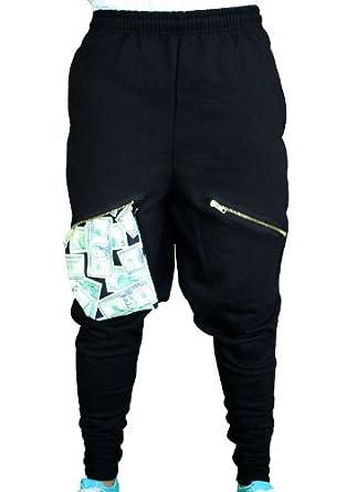 Amazon.com: ChachiMomma Pants Black Black X-Large: Clothing