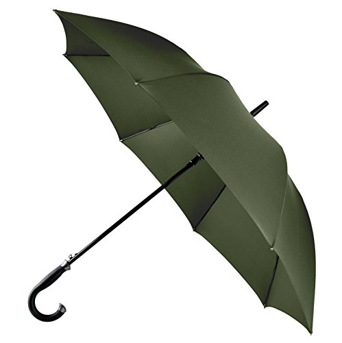 LifeTek Kingston 54 Inch Umbrella Automatic Open Extra Large Full Size Windproof Frame 210T Microfiber Fabric with Teflon Rain Repellant Protection (Green) (Extra Large Stadium Seats compare prices)
