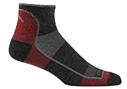 Darn Tough Vermont Men's 1/4 Merino Wool Ultra-Light Athletic Socks, Team DTV, Large (10-12)