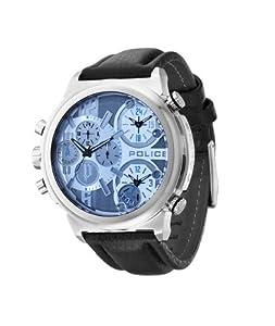 Police PL.13595JS-13 - Reloj analógico de cuarzo para hombre con correa de piel, color negro