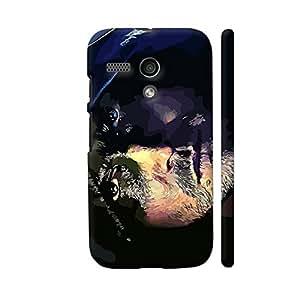Colorpur Arrow Face Designer Mobile Phone Case Back Cover For Motorola Moto G1 | Artist: Divakar Vikramjeet Singh