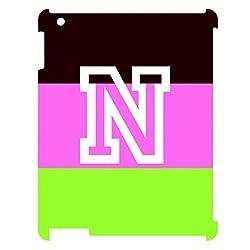 Skin4gadgets Neapolitan Ice Cream Colour Stripes 4 name Alphabet N Tablet Designer CASE for IPAD 3