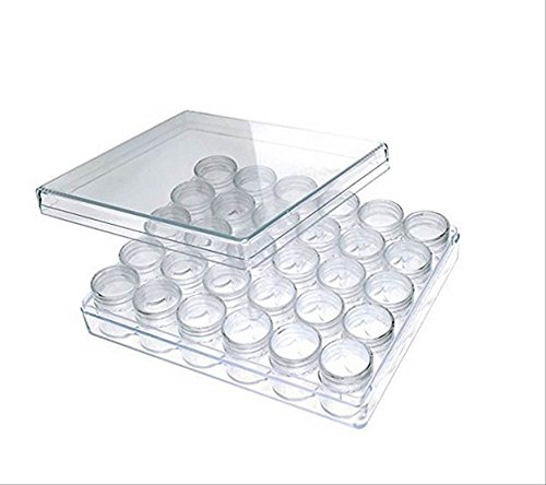 30個セット 丸型 プラスチック容器 透明 クリアケース クリームケース 詰め替え容器 ネイル ・ ピルケース ・DIY など使い方色々