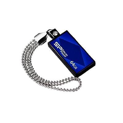 Silicon Power Touch 810 64GB USB 2.0 Flash Drive, Blue (SP064GBUF2810V1B)