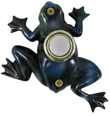 Company's Coming DBP008 Lighted Door Chime Button, Hand Painted Frog, 3-7/8 x 3-5/8-In.