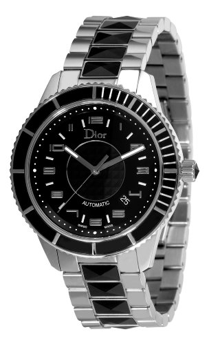 Christian Dior Unisex CD115510M001 Christal Diamond Black Dial Watch