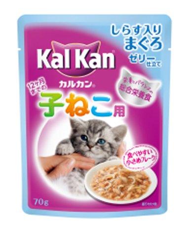 カルカンパウチ 12ヶ月までの子猫用 しらす入りまぐろ 70g ×16個入り(KWP77)