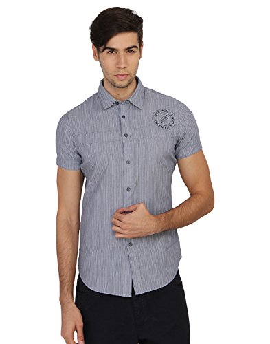 Calvin Klein Men's Striped Casual Shirt  available at amazon for Rs.2399
