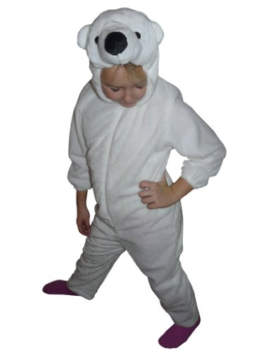 Fantasy World Girl's F24 Polar Bear Costume 6