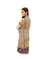Ali Colours Trendy And Stylish Printed And Embroidered Kurti In Pure Cotton Fabric For Women - B00VRQ58OY