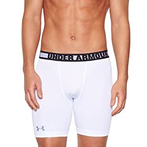 Under Armour HG Sonic Short de compression Homme White/Steel FR : L (Taille Fabricant : LG)