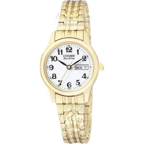 Citizen Women's Eco-Drive Flexible Band Gold-Tone Watch #EW3152-95A