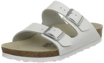 Birkenstock Arizona, Unisex-Adults' Sandals, White Leather, 2.5 UK