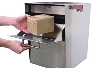 MailCase Large Residential Stainless Steel Locked Mailbox - Security ...